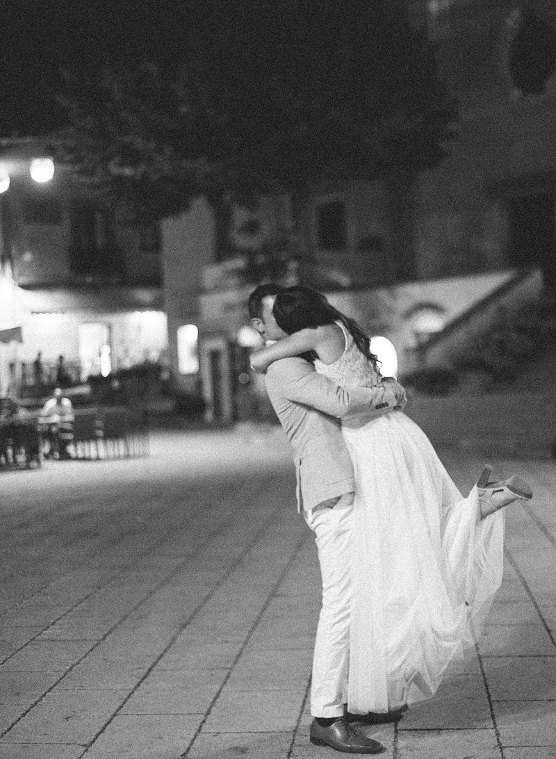 Square in Ravello In The Night