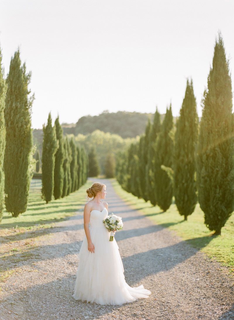 Portrait Of A Bride In Tuscany
