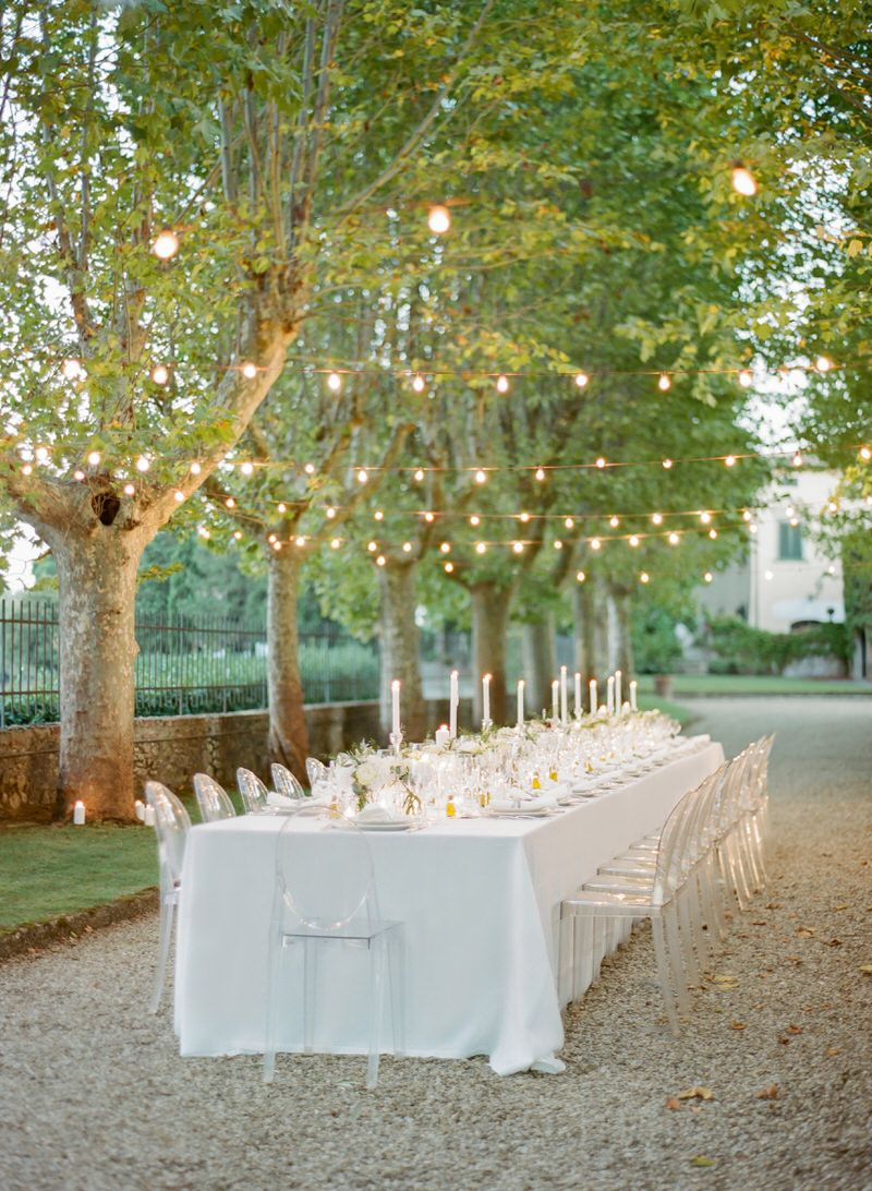 Al Fresco Reception In Tuscany