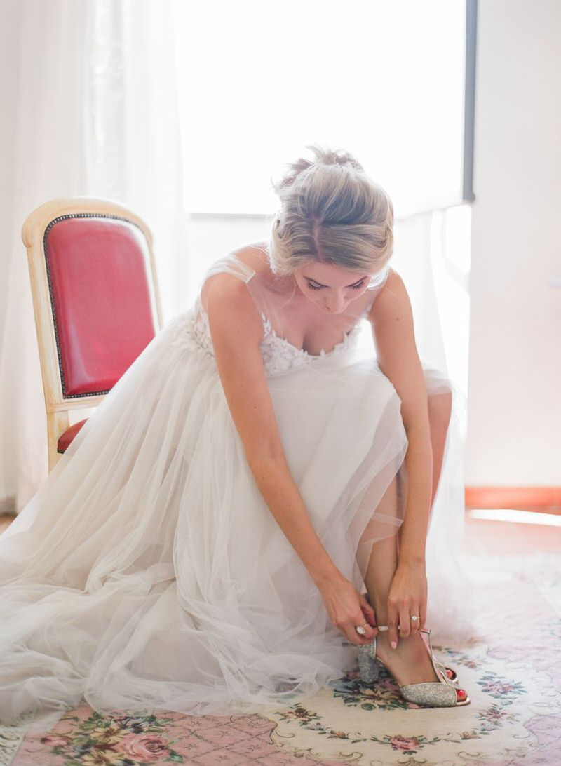 Bride Getting Ready In Tuscany