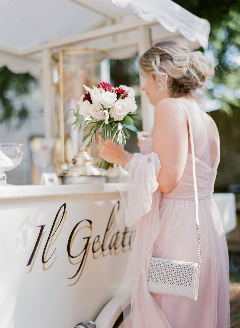 Gelato at a wedding in Italy