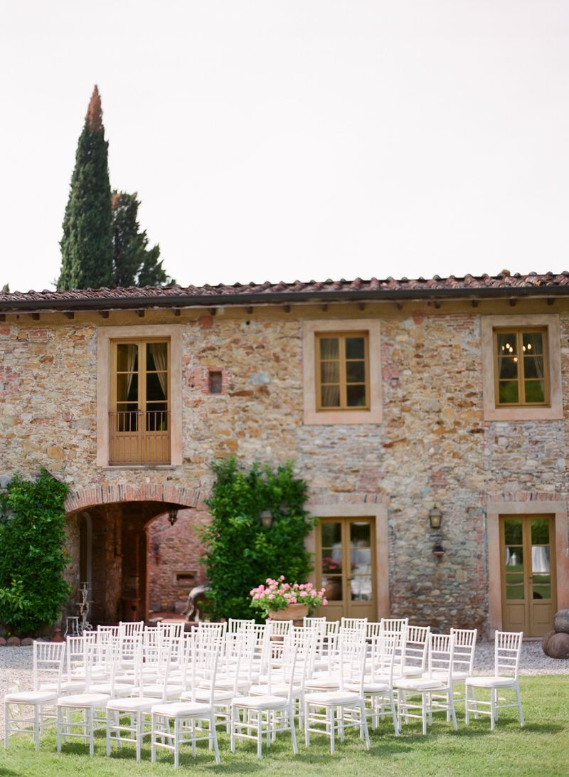 Ceremony Setup in Tuscany