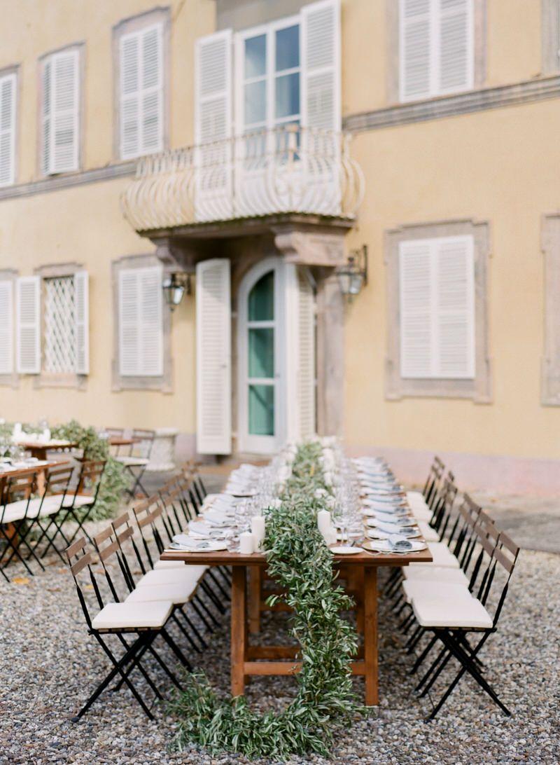 Al Fresco Reception In Tuscany