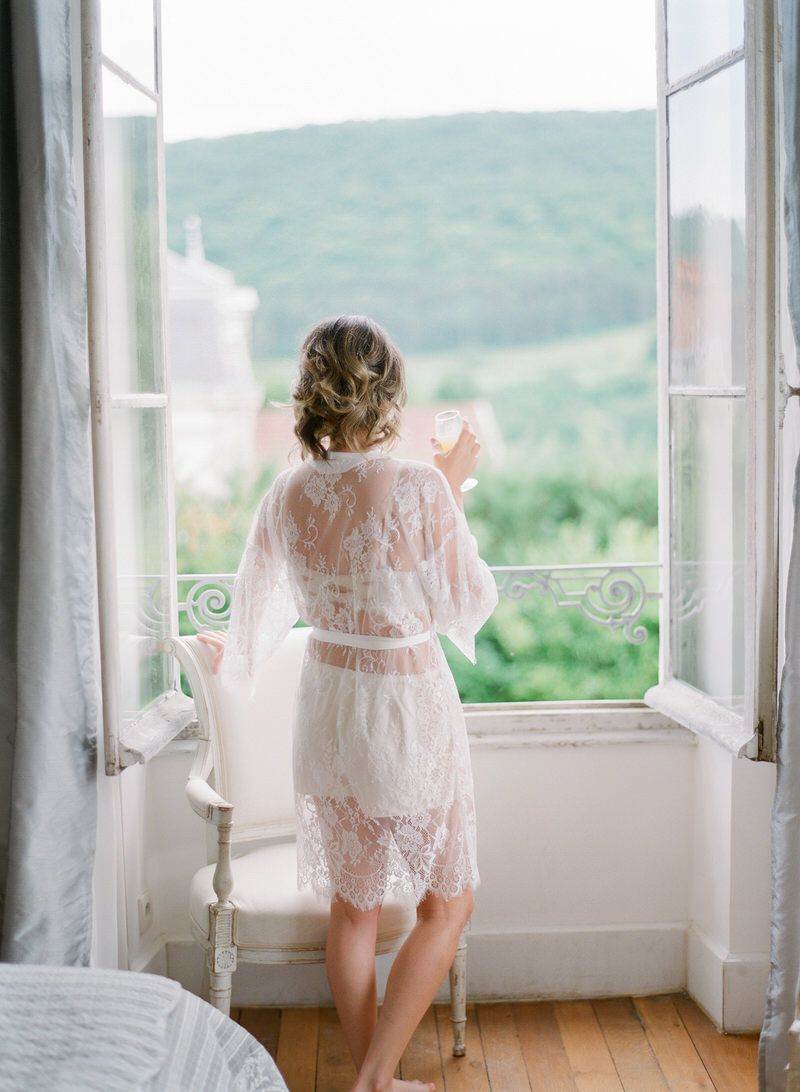 Bride in the morning in France