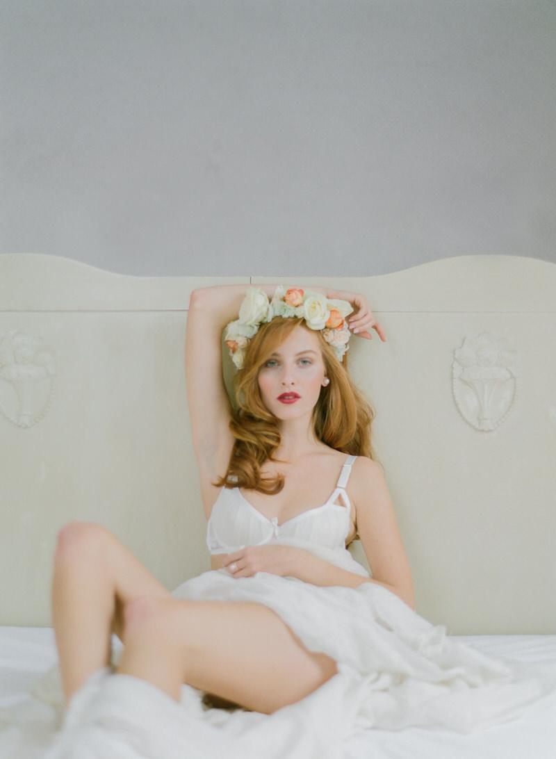 Bride with wreath