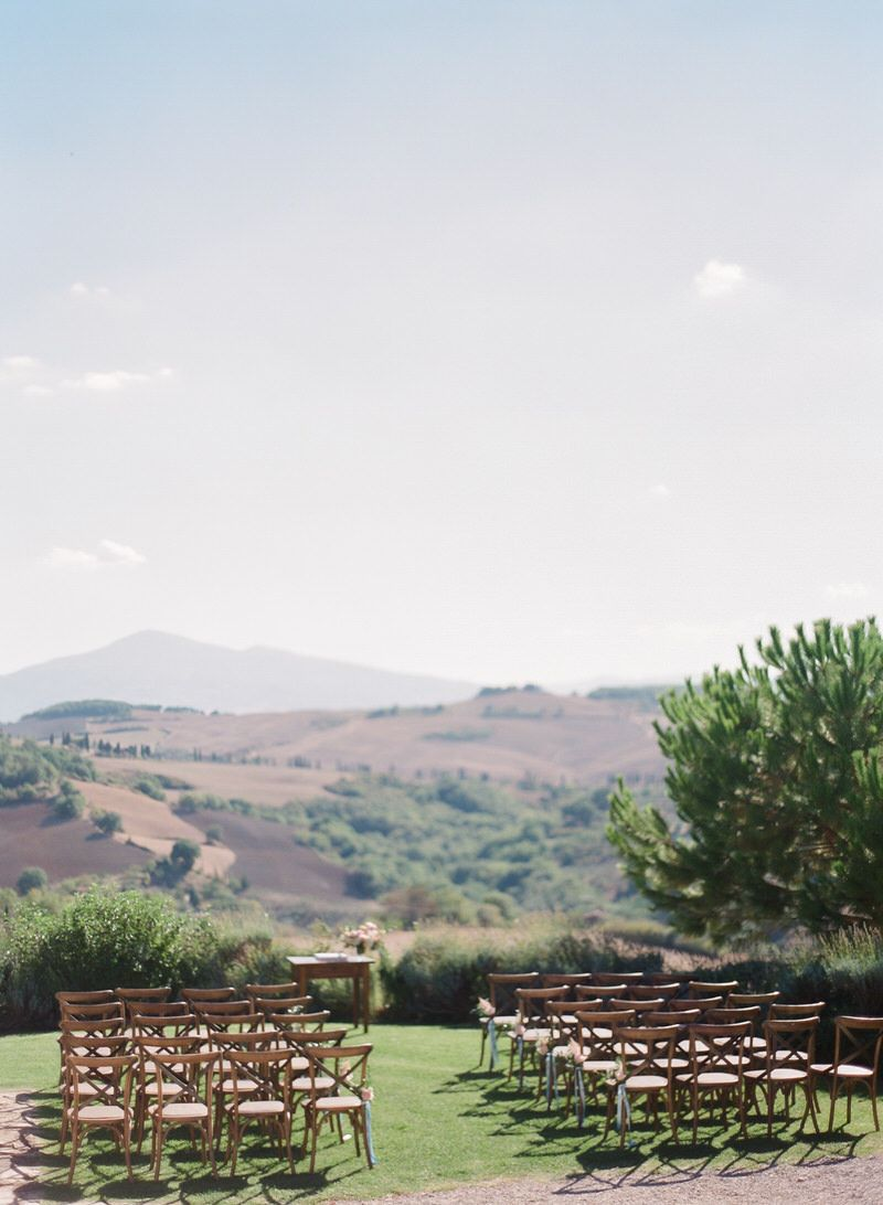 Outdoor ceremony in Tuscany