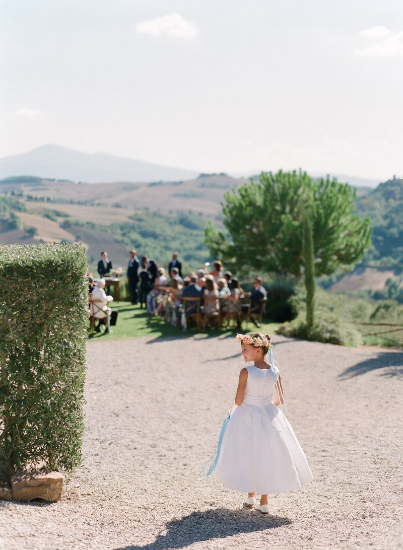 Flower Girl In Tuscany
