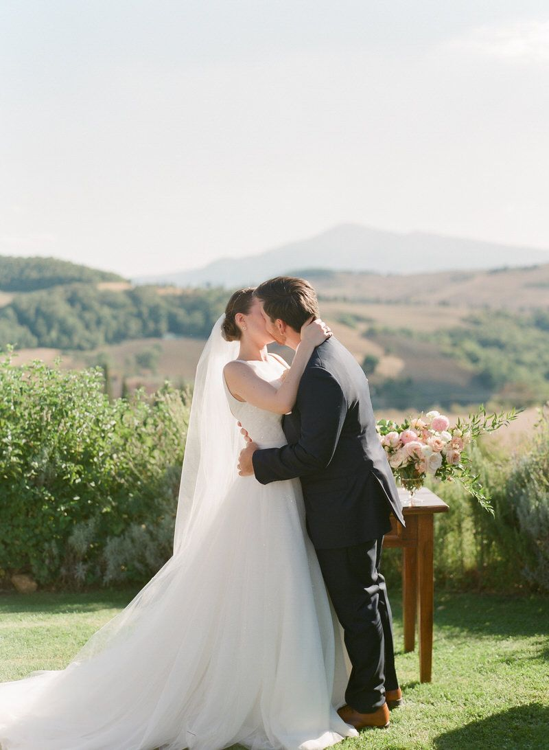 First Kiss in Tuscany