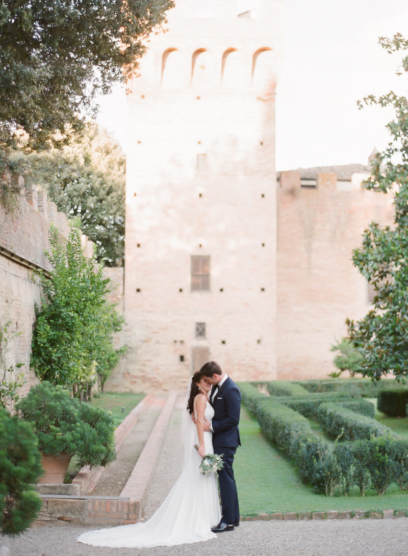 Wedding Portraits in Tuscan Castle