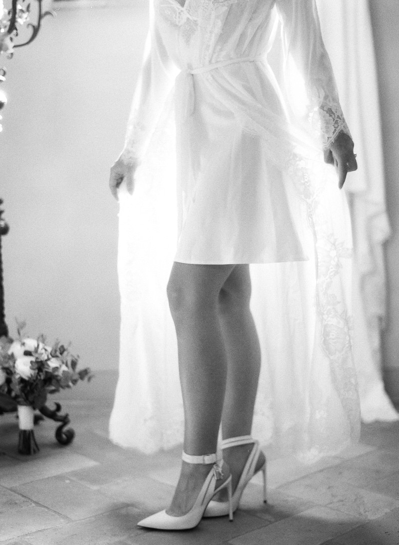 Bridal Boudoir Black and White