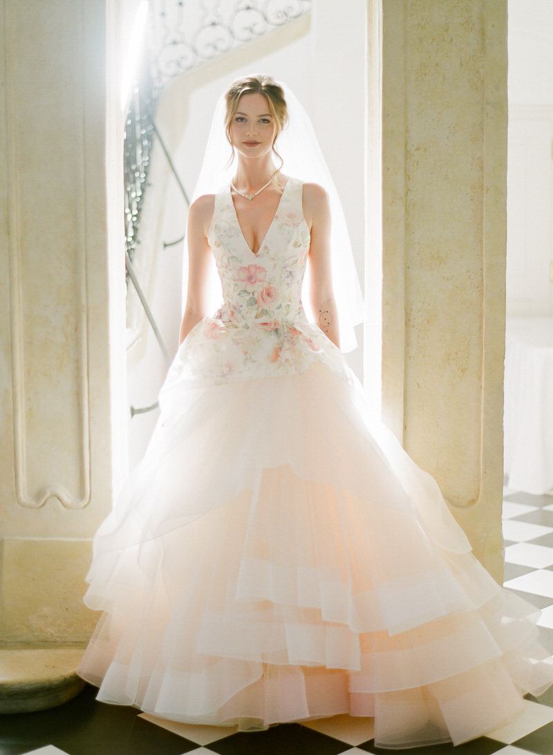 Floral Wedding Gown by Lazaro