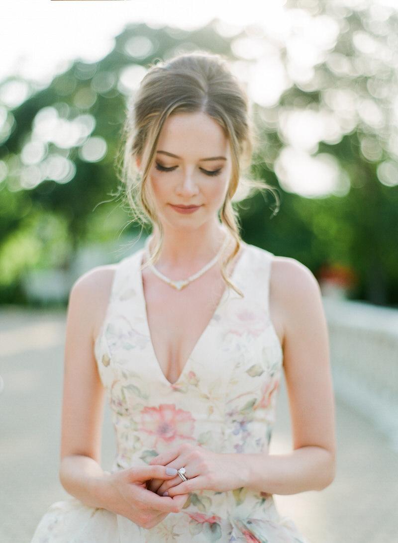 Bride floral gown