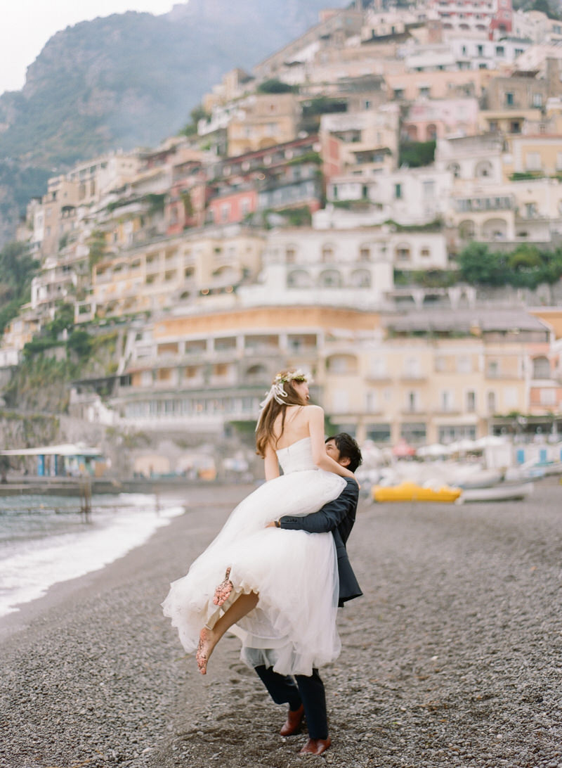Portraits at Positano Beach By Peter and Veronika