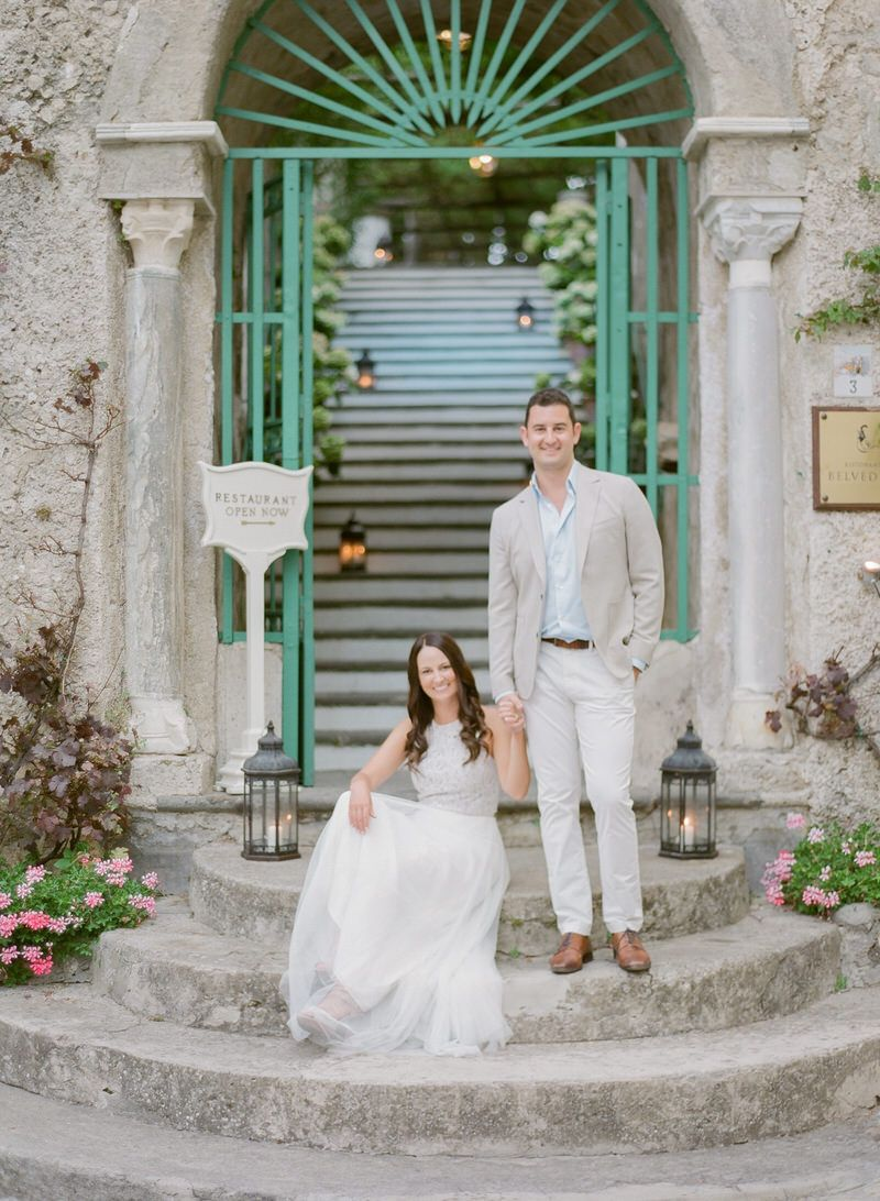 A Romantic Sunset Engagement Session In Ravello Amalfi Coast