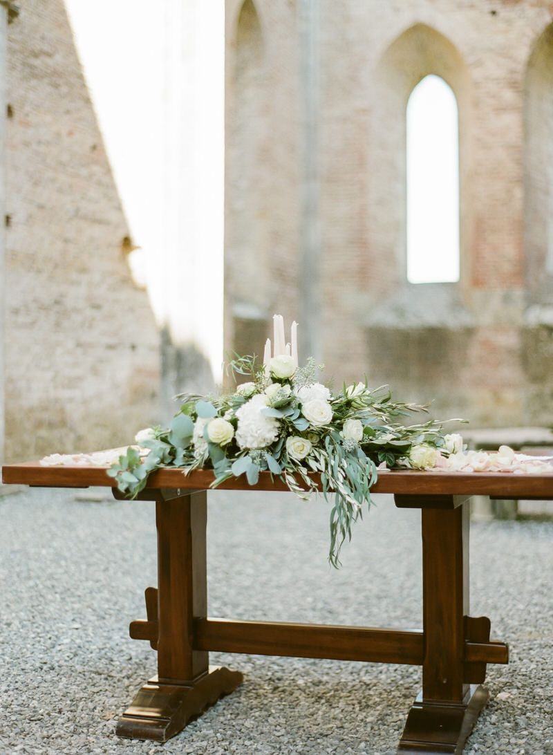 Ceremony Setup In San Galgano