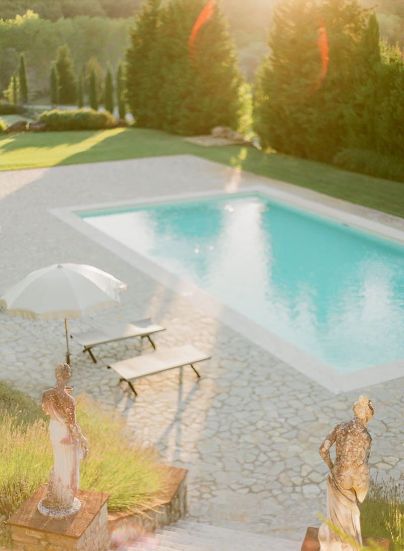 Pool at A Tuscan Villa