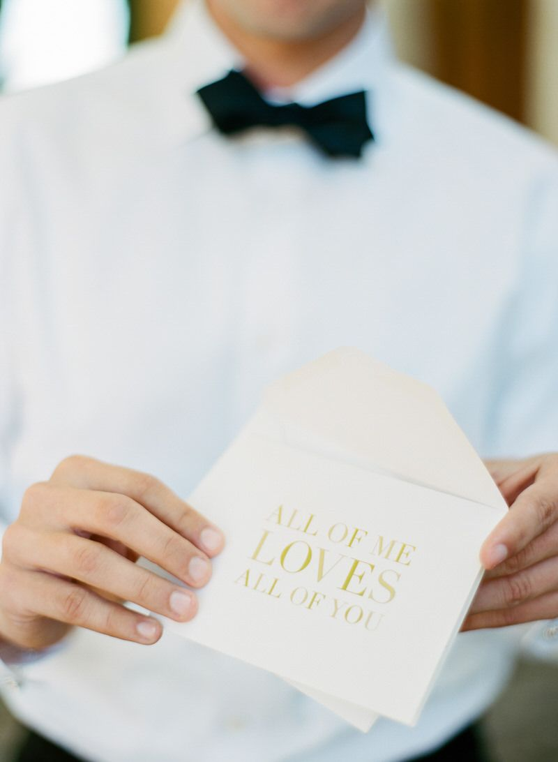 Hand Letter For The Groom