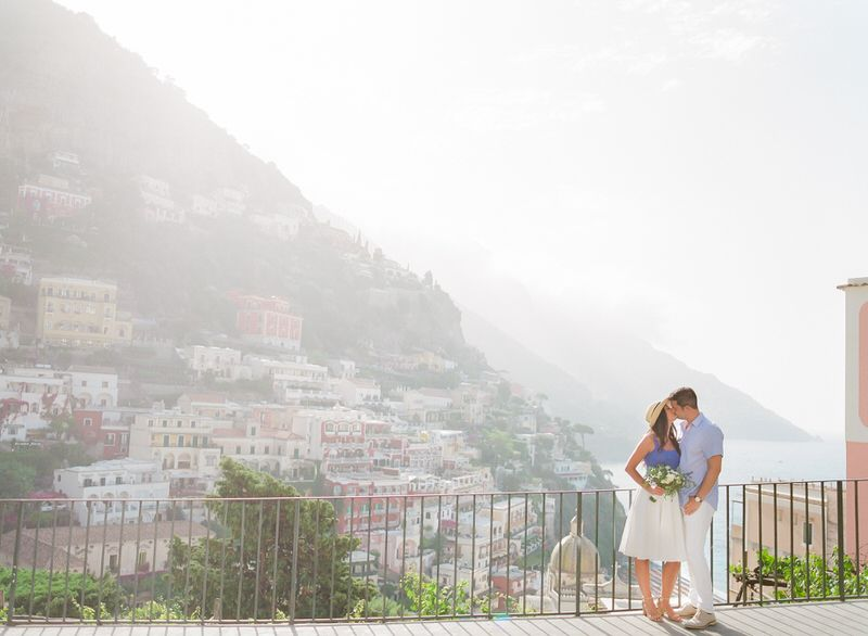 Sunrise positano engagement photo shoot