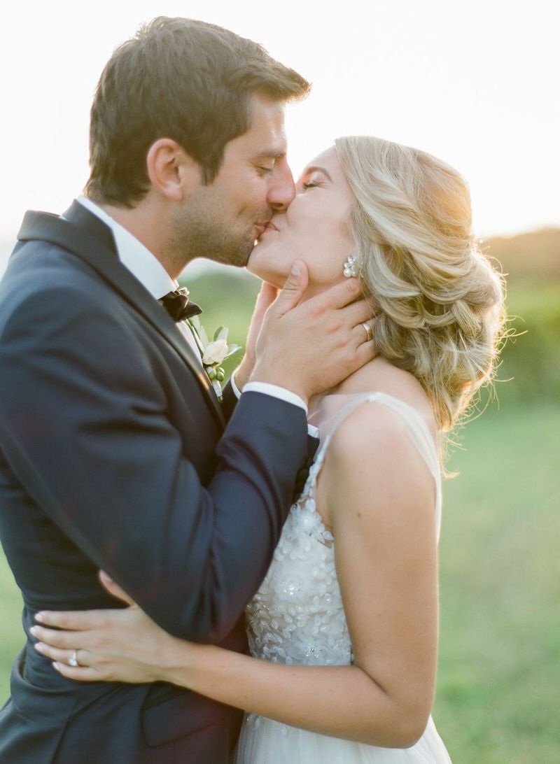 Bridal Portraits at Golden Hour in Tuscany