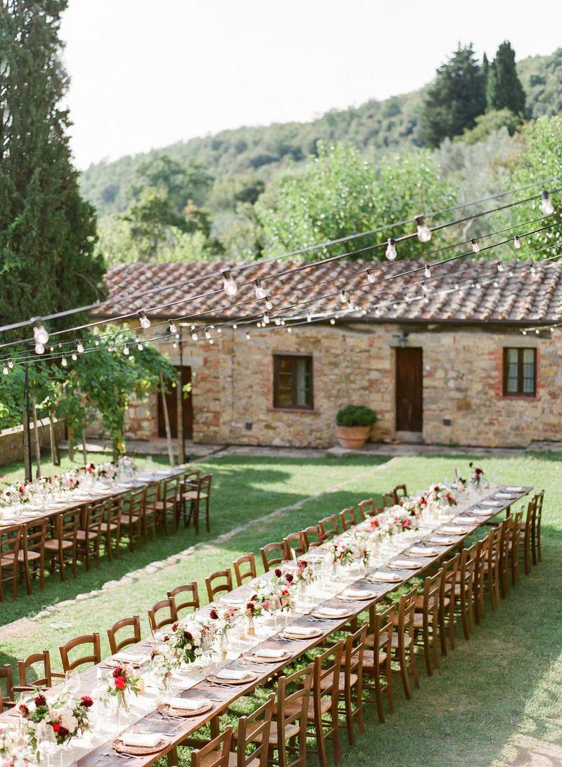 Destination Al Fresco Wedding in Tuscany