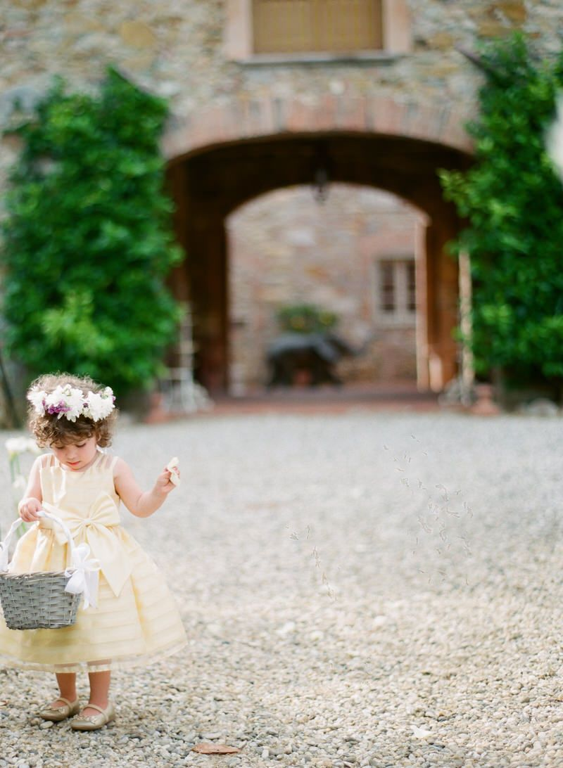 Flower Girl In The Aisle
