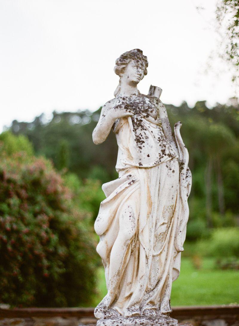 Old Statue At Tuscan Villa