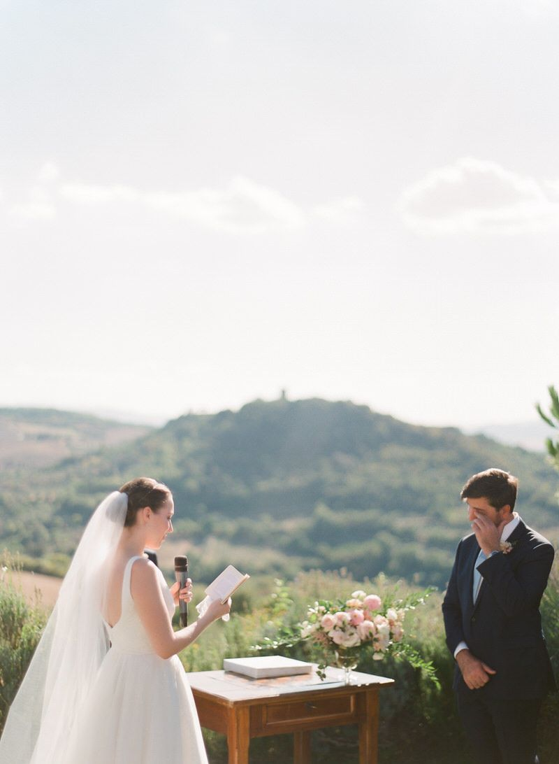 Outdoor Ceremony in Val d'Orcia