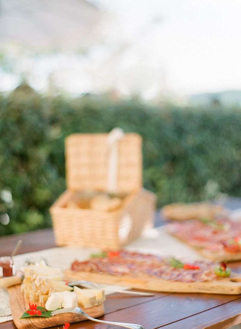 Wedding Food in Tuscan Style