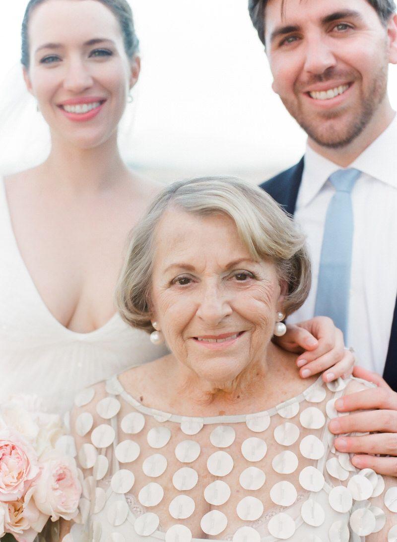 Grandmother at a wedding