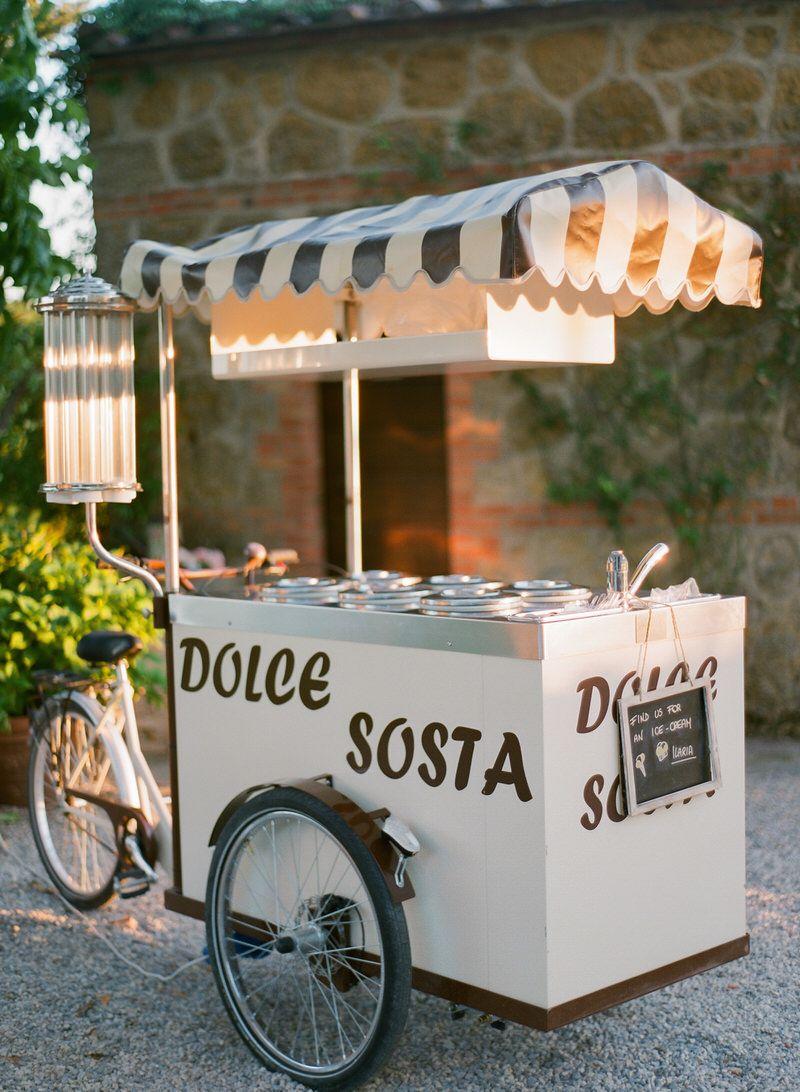 gelato Cart at a wedding