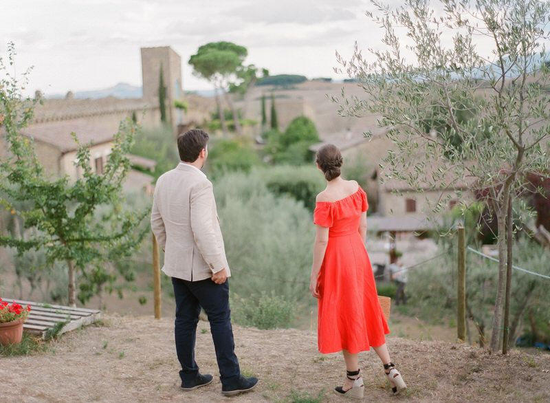 Engagement in Val d'orcia