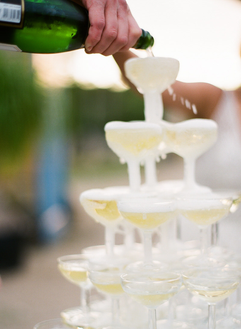 Champagne Tower at a wedding