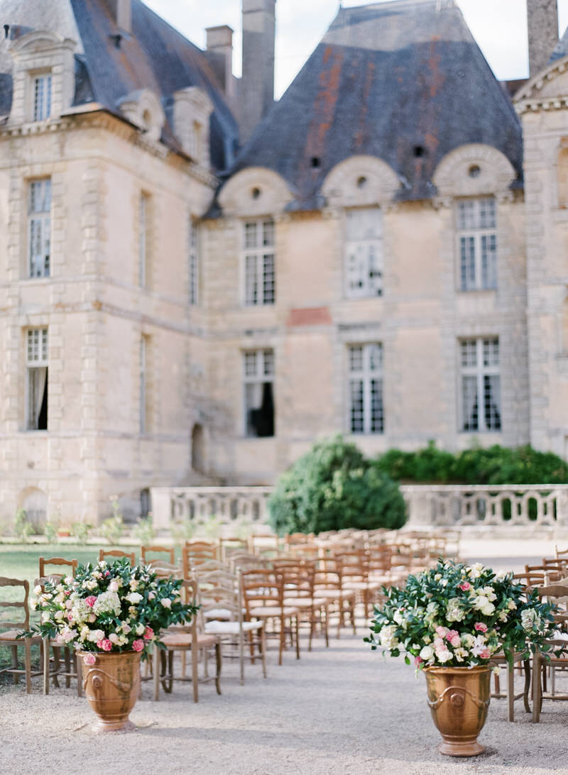 Outdoor ceremony in France
