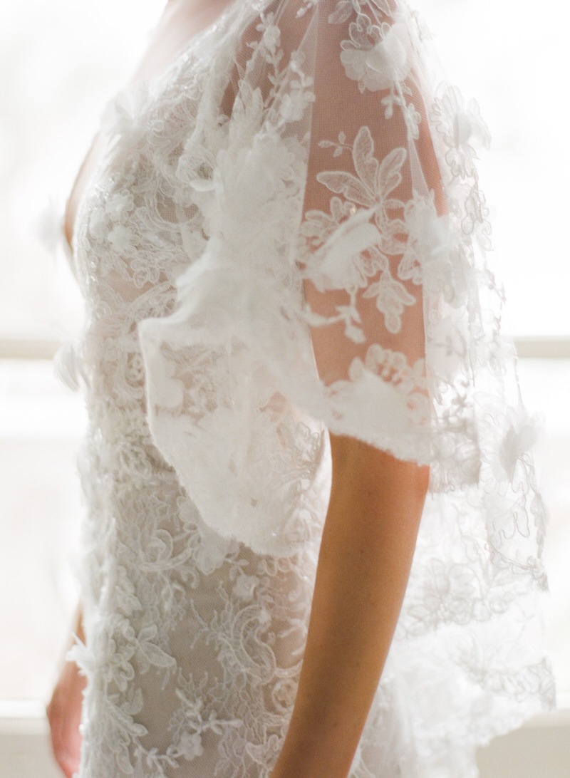 Wedding gown detail