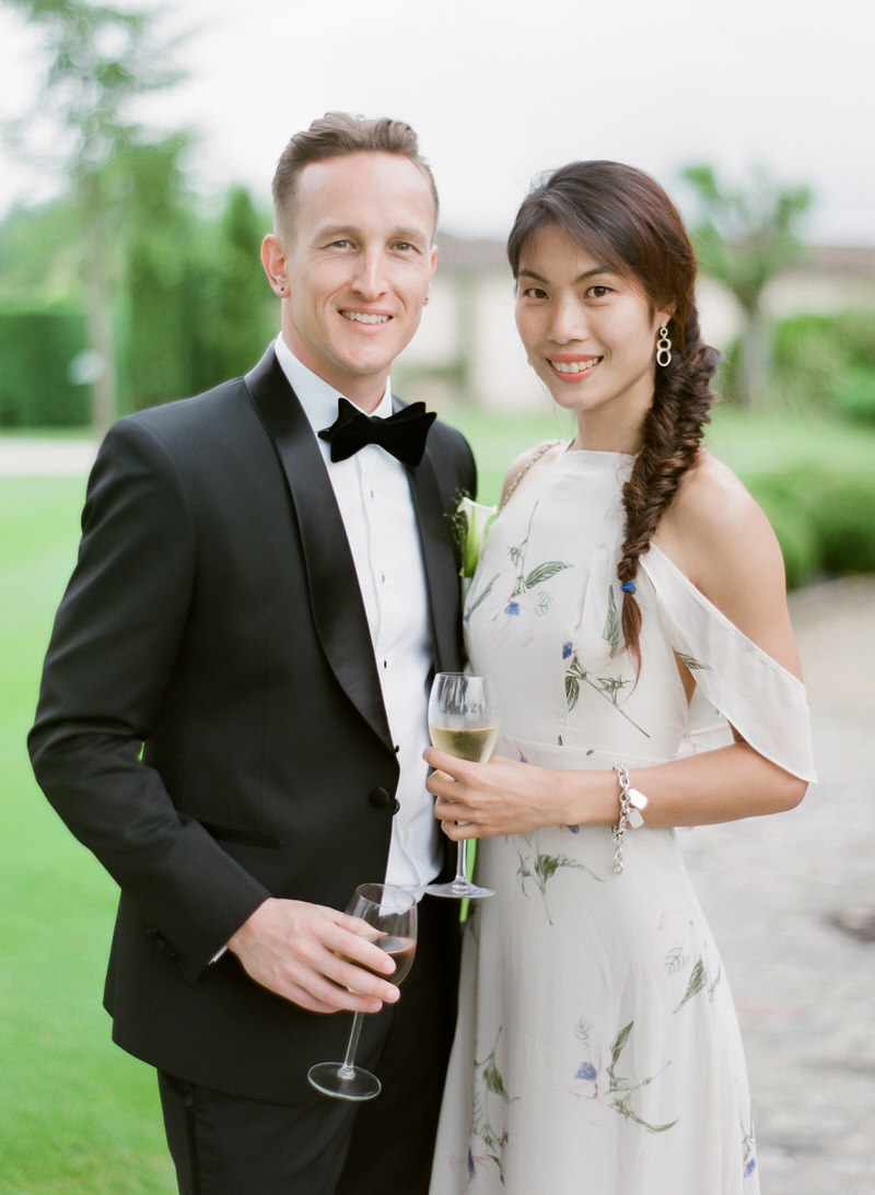 Portrait of the guests at a wedding