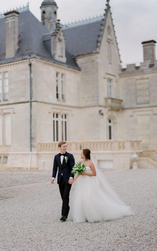 Romantic and rainy wedding in Bordeaux