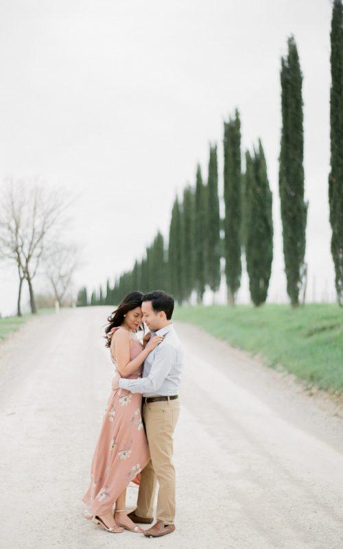Windy Anniversary Photoshoot in Tuscany