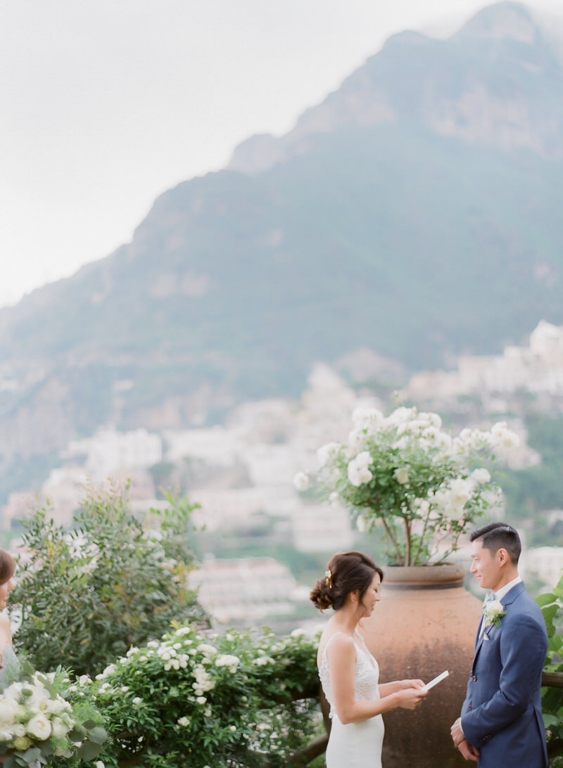 Ceremony at Villa San Giacomo with stunning view
