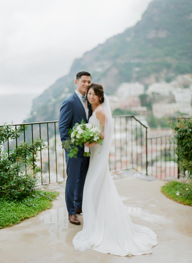 Wedding Portraits in Positano Villa San Giacomo