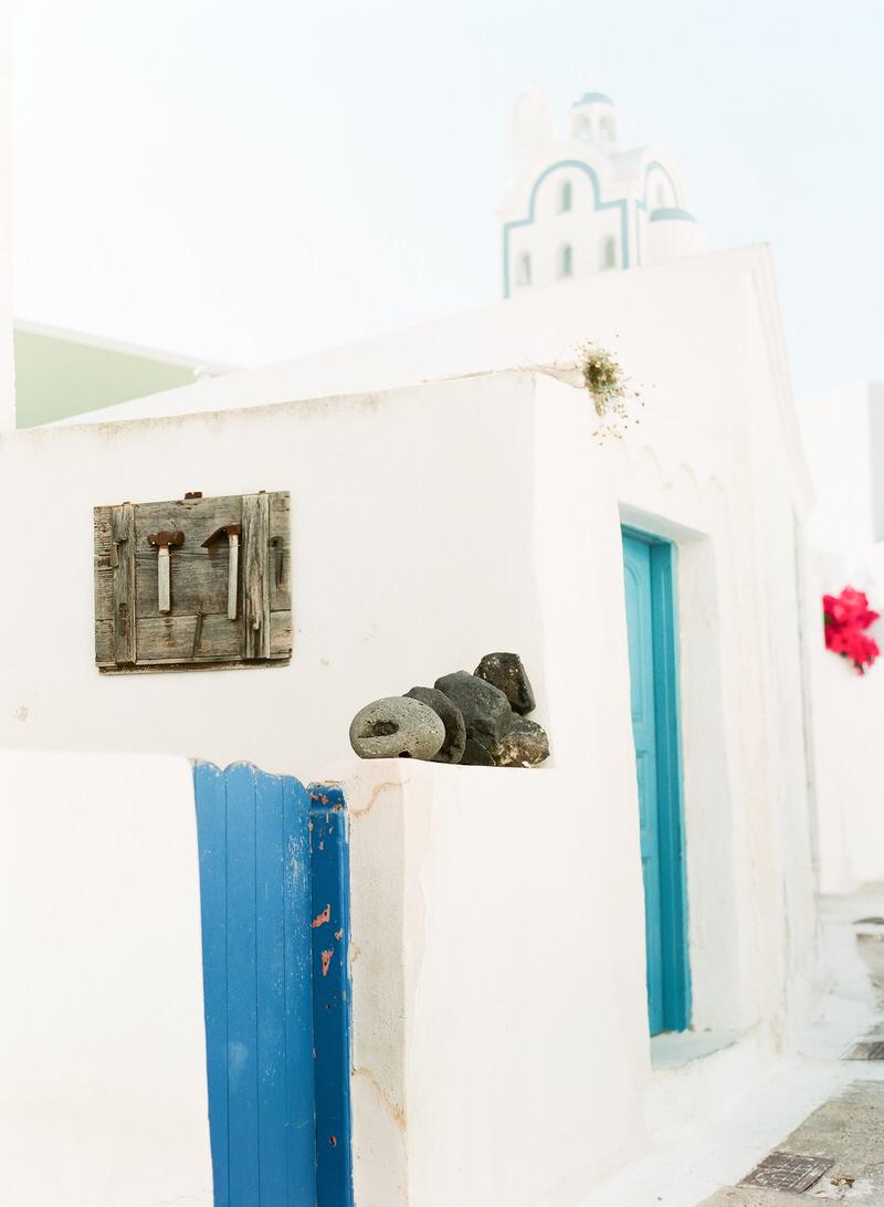 Santorini village Megalochori