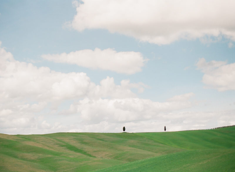 Rolling hills in Tuscany, Val d'Orcia