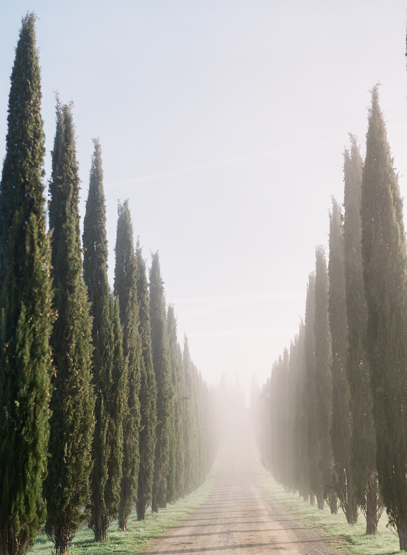 Foggy Tuscany in Spring