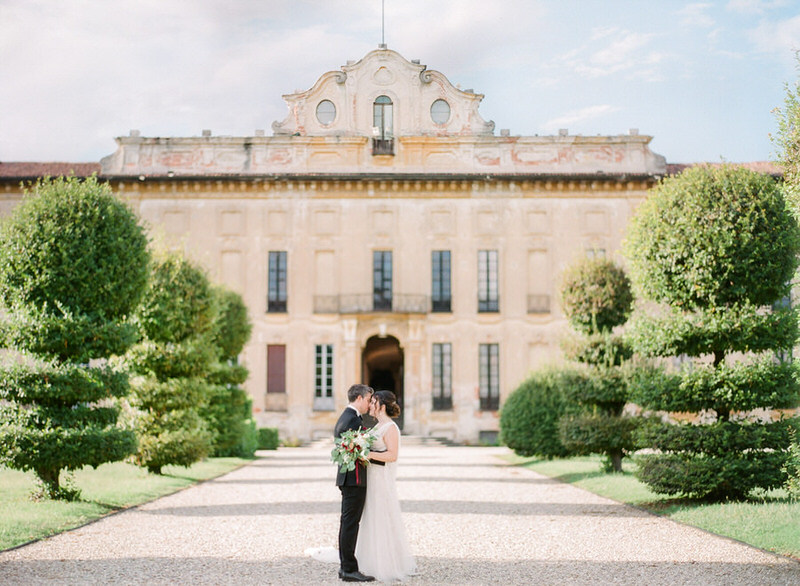Wedding Portraits at Villa Arconati by Peter and Veronika