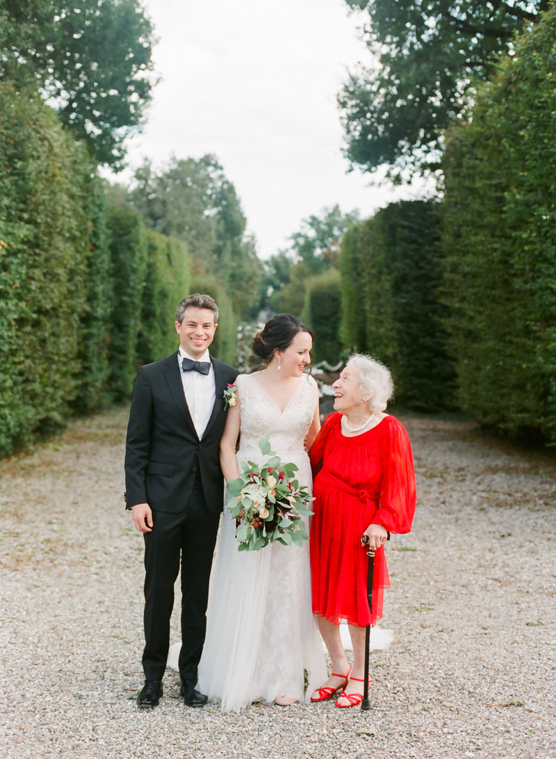 bride with grandmother at a wedding