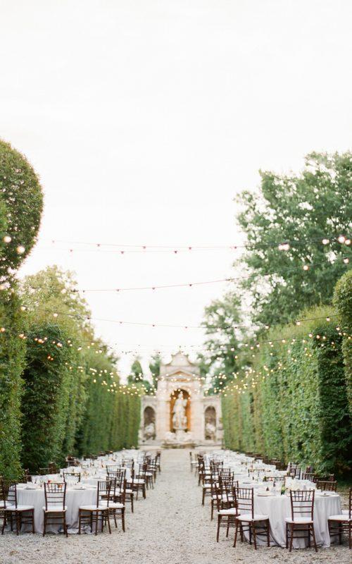 Magical Wedding Reception at the Gardens on Villa Arconati in Milan