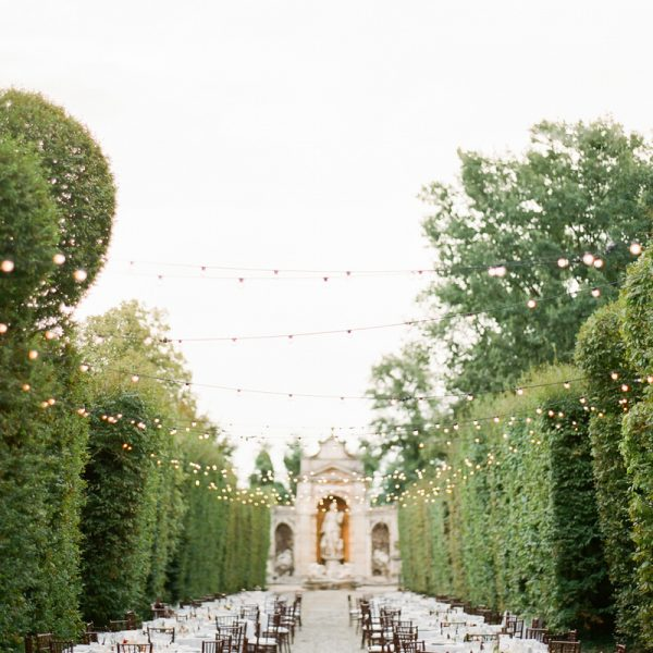 Magical Wedding Reception at the Gardens on Villa Arconati in Milan