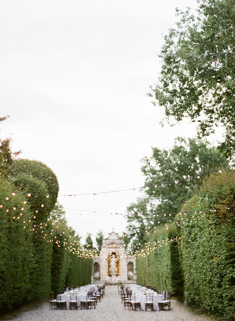 Destination Outdoor Wedding at villa Arconati
