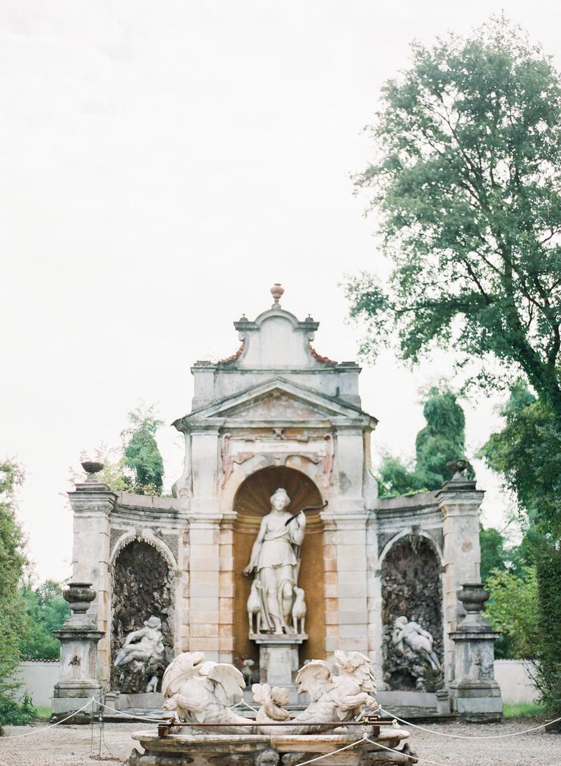 Gardens at villa arconati in milan