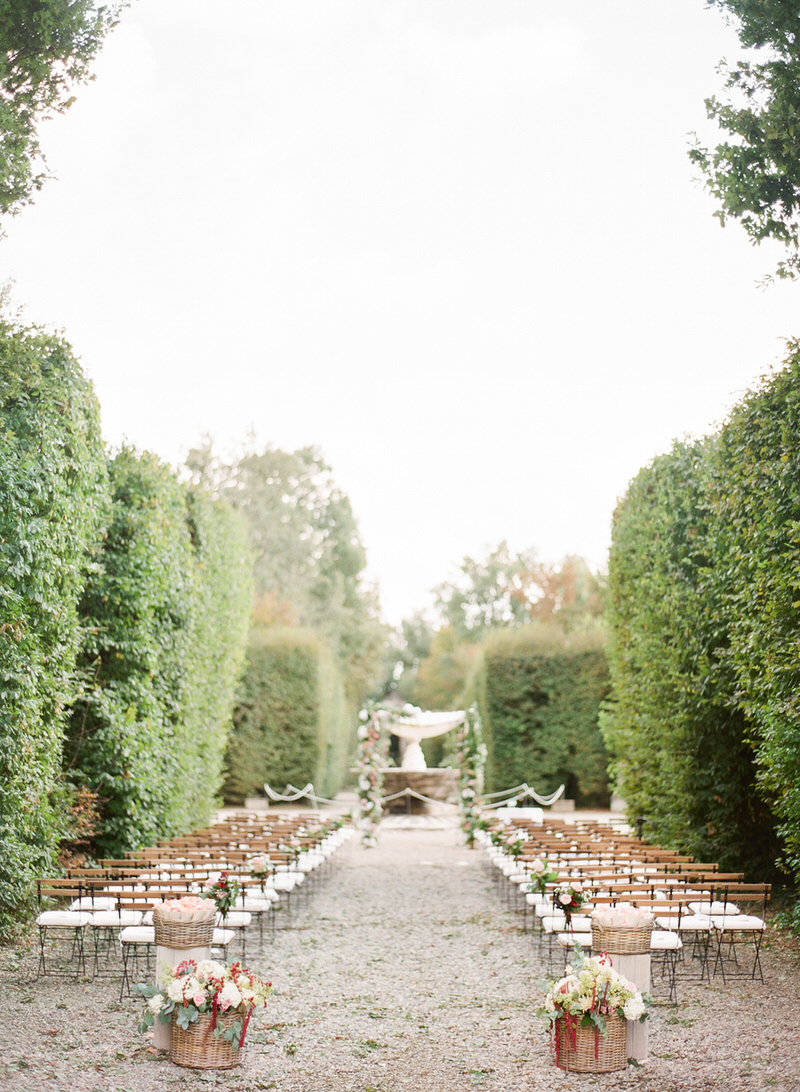 Outdoor ceremony at Villa Arconati