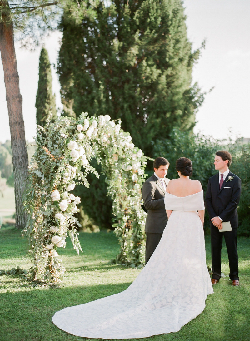 Outdoor ceremony in Rome